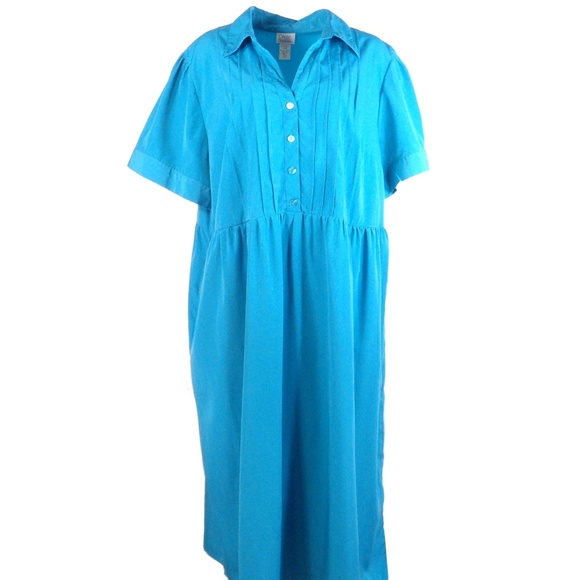 Only Necessities Dresses & Skirts - Only Necessities Womens Dress Plus 24W Blue Maxi